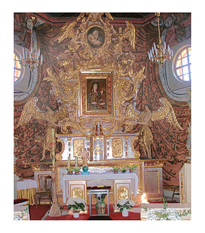 Gąsawa - St. Nicolas church in Gąsawa: main altar