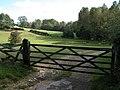 Gate into farmland in Sherborne Brook valley - geograph.org.uk - 257831.jpg