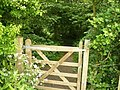 Gate to Bunny old Wood on The Midshires Way - geograph.org.uk - 1335403.jpg