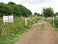 Gated private track south of the sewage works - geograph.org.uk - 1388453.jpg