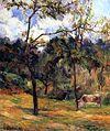 Gauguin 1884 Vache dans un pré, Rouen.jpg