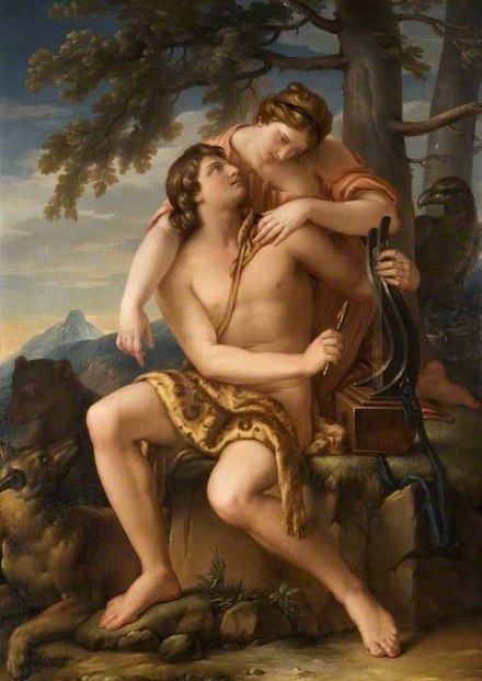 Apollo and Artemis, by Gavin Hamilton Gavin Hamilton - Apollo and Artemis, 1770.jpg