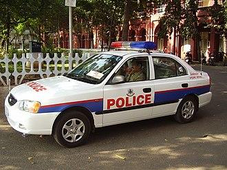 Tamil Nadu Police - Image: Gcp patrol car