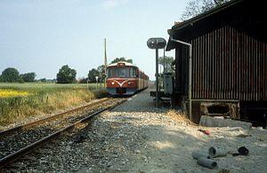 Pårup railway halt - Pårup railway halt in 1983