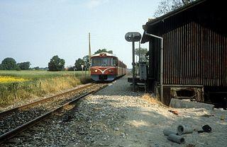 railway station in Gribskov Municipality, Denmark