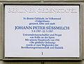 Gedenktafel Brüderstr 10 (Mitte) Johann Peter Süssmilch.JPG