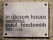 Gedenktafel Paul Hindemith
