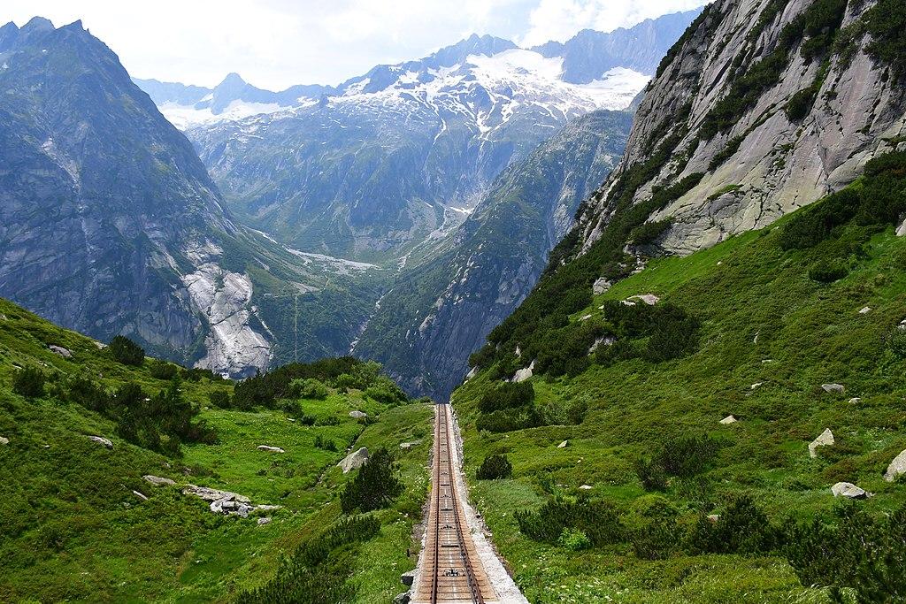 Gelmerbahn tracks