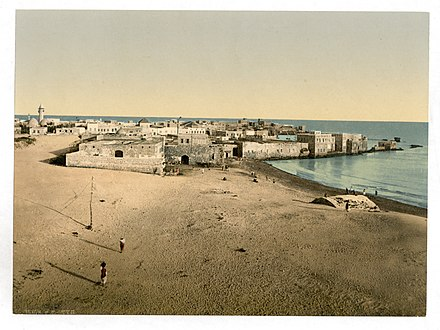 Between 1890 and 1900, Photochrom Print General view, Tyre, Holy Land, (i.e., Lebanon)-LCCN2002725061.jpg