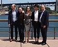 Geoff Evans, Jack O'Connell, Angelina Jolie, Miyavi, Matt Baer (15196739533).jpg