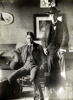 George Ade - Ade (left), with John T. McCutcheon, circa 1894-1895