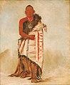 George Catlin - Ki-hó-go-waw-shú-shee, Brave Chief, Chief of the Tribe - 1985.66.113 - Smithsonian American Art Museum.jpg