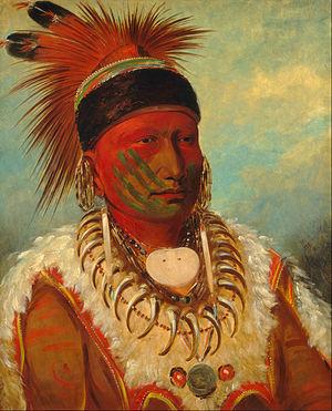 Iowa Tribe of Oklahoma - Image: George Catlin The White Cloud, Head Chief of the Iowas Google Art Project