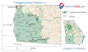 Georgia's 2nd District Map, 2002-2005.png