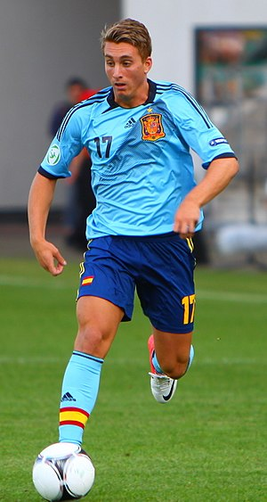 Gerard Deulofeu - Deulofeu playing for Spain U19 in 2012