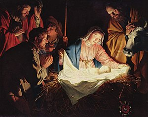 "Life of Jesus in the New Testament - ""Adoration of the Shepherds"" by Gerard van Honthorst, 1622"