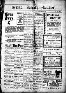 <i>Gering Courier</i> newspaper published in Gering