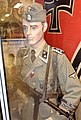 German WW2 Waffen-SS uniform Oberscharführer MP40 Frw. Legion Norge SS-Schule G shoulder board cypher Germania reg Side cap Totenkopf SS eagle Frontkjemper Norw. volunteer Ostmedaille Assault badge Iron cross Arquebus Museum Norway 2.jpg