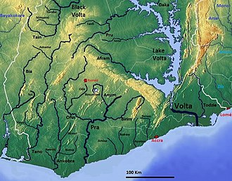 Afram River - Image: Ghana south OSM