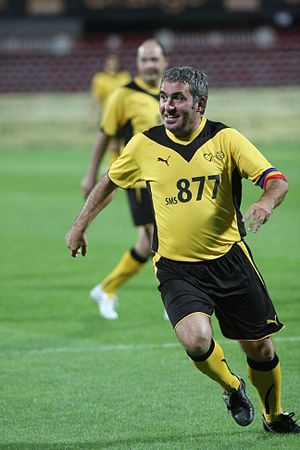 Romanian Footballer of the Year - Gheorghe Hagi won the award a record of seven times.