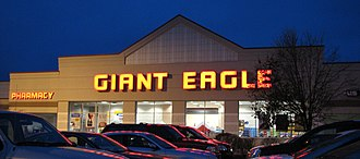 Giant Eagle - Giant Eagle in Stow, Ohio. This is the current Giant Eagle prototype, used since the late 1990s, but has the 1980s-era Giant Eagle logo font.