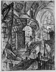 Le Carceri d'Invenzione, plate III: The Round Tower