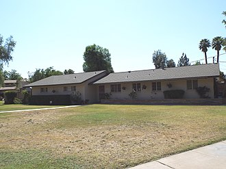 Evan Mecham - Evan Mecham's house located at 5741 West Harmont Drive in Glendale, Arizona