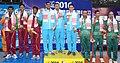 Gold Medallist of India Gagan Narang, Chain Singh and Surendra Singh Rathod, Silver Medallist of Sri Lanka WKY Krishantha, SMM Samarkoon and HDP Kumara and Bronze Medallist of Bangladesh Golam Safiuddin Siplu.jpg