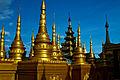 Golden stupas in Bodhi Tataung (5090943218).jpg