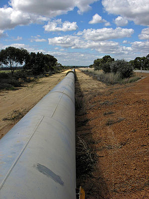 Goldfields Water Supply Scheme - A section of the pipeline