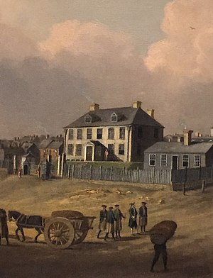 Sir Richard Hughes, 2nd Baronet - Governor Hughes' residence (built 1749).  (Located on the site of Province House, which still is furnished with his Nova Scotia Council table)
