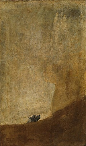 Francisco goya paintings the dog