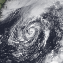 Viditelný satelitní snímek hurikánu Grace