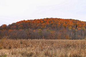 Noxen Township, Wyoming County, Pennsylvania - Scenery of Noxen, Pennsylvania looking southwest to Grassy Ridge