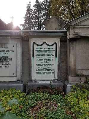Eduard Wölfflin - Image: Grave Eduard Wölfflin