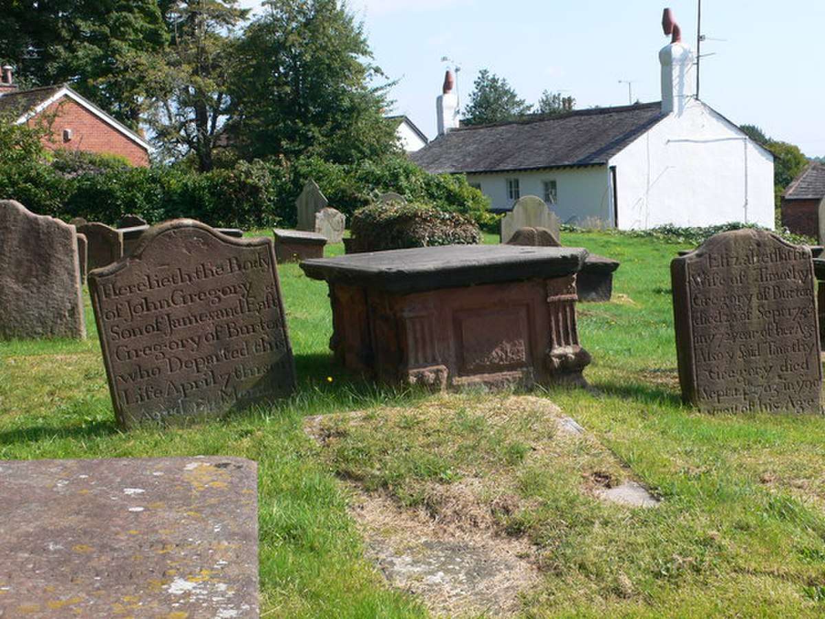 Gravestones at St Nicholas', Burton-in-Wirral - geograph.org.uk - 1495721.jpg