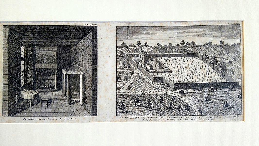 Gravure (1699). Plus ancienne vue connue de La Devinière