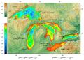 Great Lakes bathymetry map.png