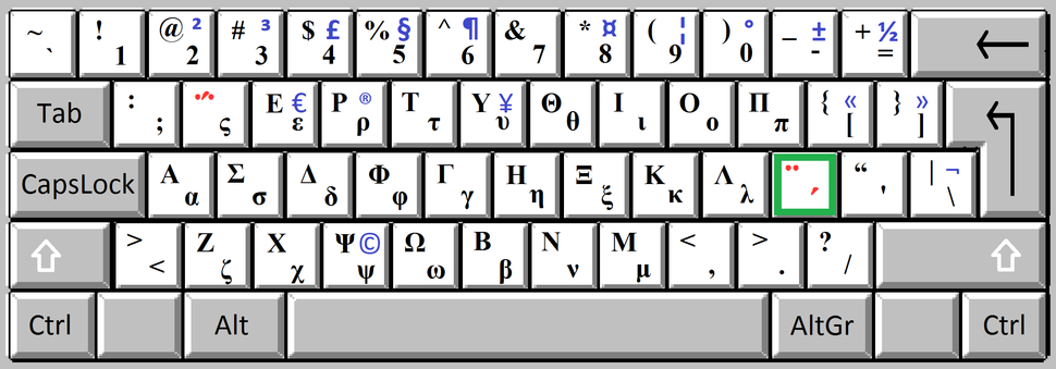 Greek keyboard mono 3b