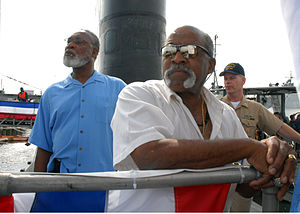 Luis Tiant - Luis Tiant aboard USS Albany, June 2007