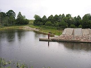 The river Virvycia. The Gudai dam