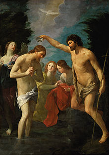 The Baptism Of Jesus Depicted By Guido Reni C 1623