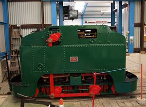 Samuel Geoghegan - Samuel Geohegan's steam locomotive No 23 exhibited at Amberley Museum Railway