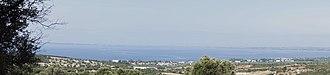 Yerakini - Panoramic view of the Gulf of Torone from the Trikorfo mountain