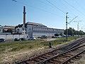 Gyárváros railway station and Glovita Kesztyű Zrt, 2018 Győr.jpg