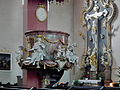 Höchberg, Pfarrkirche Mariä Geburt 012, Pulpit.JPG
