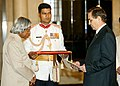 H.E. DR. TCHARY G. NIIAZOV DESIGNATE MBASSADOR OF THE TURKMENISTAN PRESENTED HIS CREDENTIALS TO THE PRESIDENT DR. APJ ABDUL KALAM AT RASHTRAPATI BHAVAN IN NEW DELHI ON SEPTEMBER 29, 2004.jpg