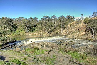 Dights Falls - Dights Falls on the Yarra River showing the silurian sandstone hillside