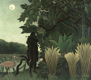 Merrick (novel) - Image: HENRI ROUSSEAU La Encantadora de Serpientes (Museo de Orsay, París, 1907. Óleo sobre lienzo, 169 x 189.5 cm)