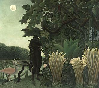 The Mosquito Coast (novel) - Image: HENRI ROUSSEAU La Encantadora de Serpientes (Museo de Orsay, París, 1907. Óleo sobre lienzo, 169 x 189.5 cm)